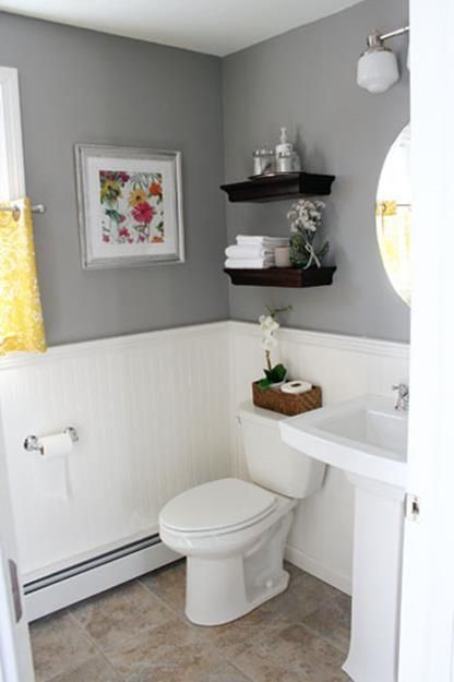Gray Half Bathroom Decorating Ideas On A Budget 38 With Images