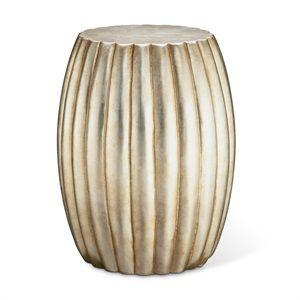 Silver Leaf Drum Table