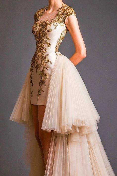 vestido da alta custura
