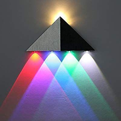 Lightess Up Down Wall Light Led Modern Sconce Spotlight Lighting Triangle Shape Mini Lamp For Theater Movie Ro Wall Lights Led Wall Lights Wall Sconce Lighting