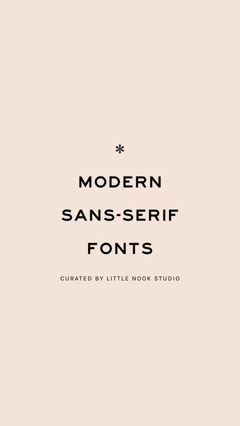 Modern Sans Serif Typography Inspiration: Font Trends