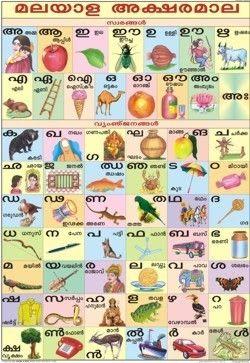 Pin by Padma Tummalapalli on Tamil / Malayalam | Alphabet charts
