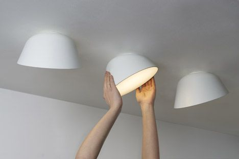 first there were recessed downlighter, but who needs them! LED Lamp by Samuel Wilkinson for Zero