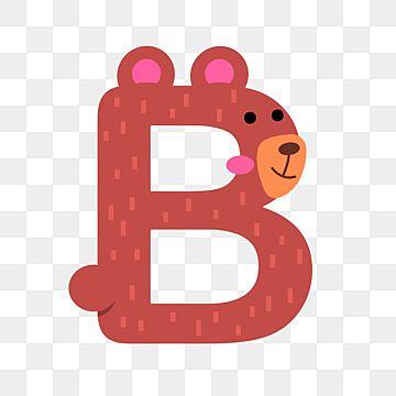 Flat Cartoon Alphabet Animal Cute Bear Letter B For Kids Isolated Vector Letter A Clipart Alphabet Isolated Alphabet Art Png And Vector With Transparent Back In 2021 Animal Alphabet Letters Alphabet