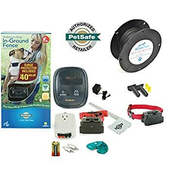 Monell Pets Petsafe Stubborn Large Dog In Ground Electric Fence Pig00 10777 14 Gauge 500 Click Image For More Details In 2020 Electric Fence Dog Fence Large Dogs