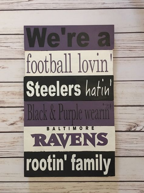 Baltimore Ravens Home Decor! Handmade wooden Ravens Sign! Perfect for