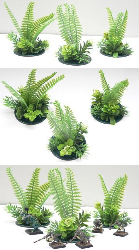 Lg Lt Jungle Foliage Wargame Terrain Scenery 25 mm 28mm | trees