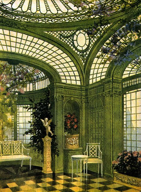 Eastlake Victorian: In Search of The Perfect Wardian Case Victorian Conservatory, Victorian Greenhouses, Conservatory Interiors, Conservatory Curtains, Conservatory House, Conservatory Furniture, Beautiful Architecture, Interior Architecture, Interior And Exterior