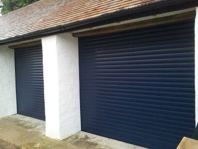 Automatic Roller Garage Doors Navy Blue Garage Door Design Garage Door Styles Contemporary Garage Doors