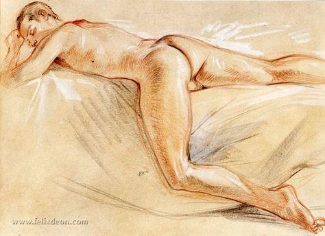 Fast Asleep, Male Nude