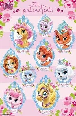 Disney Princess 9 Palace Pets 22x34 Cartoon Poster Blondie Petit