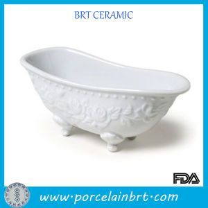 Fashionable Ceramic Mini Bathtub Soap Dish Mini Bathtub Dish