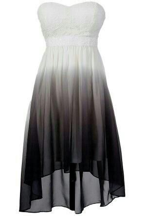 Super Pretty Black And White Ombre Dress By Deena Dress And Heels Heels High Classy Classy Dress