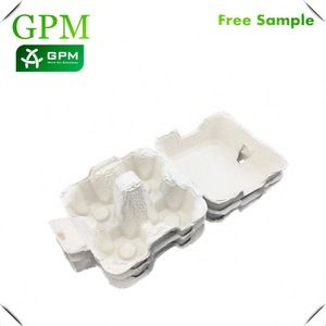 Pulp Egg Carton 4 Holes Box Egg Packaging Carton For Sale For Deviled Eggs Egg Packaging International Trade Manufacturing