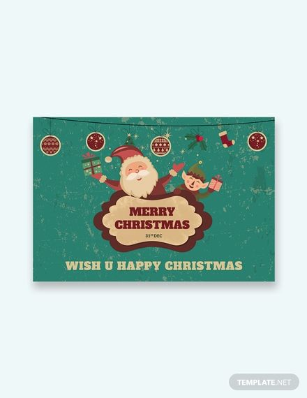 Merry Christmas Card Template Word Apple Pages Psd Publisher Template Net Merry Christmas Card Photo Merry Christmas Card Christmas Card Template