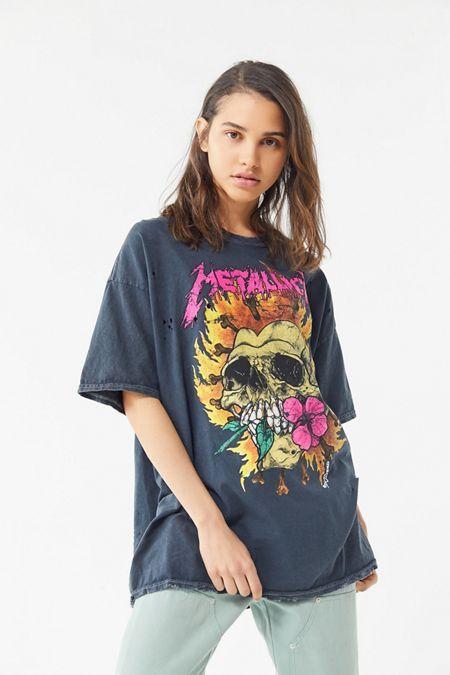 Graphic Tees For Women Urban Outfitters Metallica T Shirt T Shirt Dress Oversized T Shirt Dress