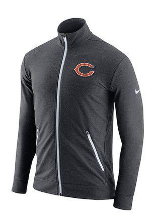 3f62371ec9bd2 Nike Chicago Bears Mens Grey Dri-FIT Touch Fleece Zip Fashion