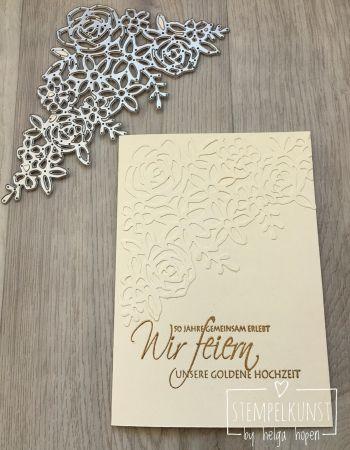 Einladungskarte Zur Goldenen Hochzeit Stempelkunst By Helga