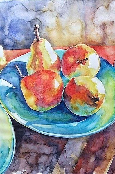 Susan Keith Watercolor Artist Still Life Watercolor Fruit