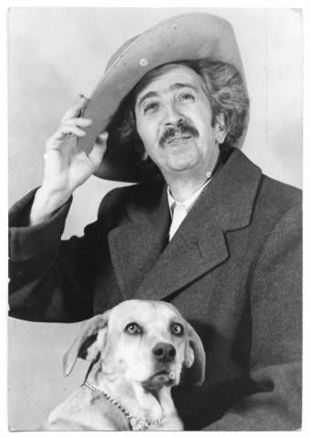 Tommy Macaione With His Dog Santa Fe New Mexico Palace Of The
