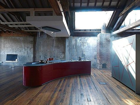 Good Grifflose Designinselk che GL in Rot Ballerina K chen Pinterest Red kitchen Kitchen design and Kitchens