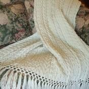 Irish Wedding Aran Afghan - via @Craftsy