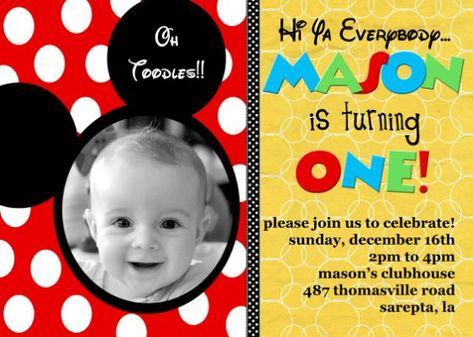 Mickey Mouse Baby First Birthday