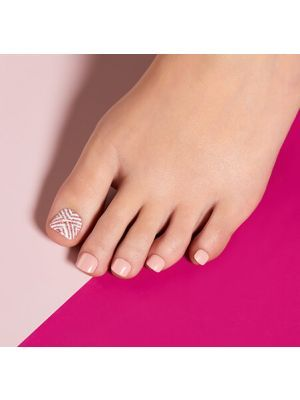 Impress Press On Pedicure Wanderlust Nail Art Tutorial Pedicure Artificial Nails