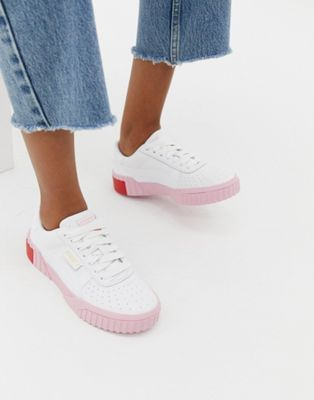 Puma Cali white and pink trainers | Γυναικεία μόδα, Μόδα
