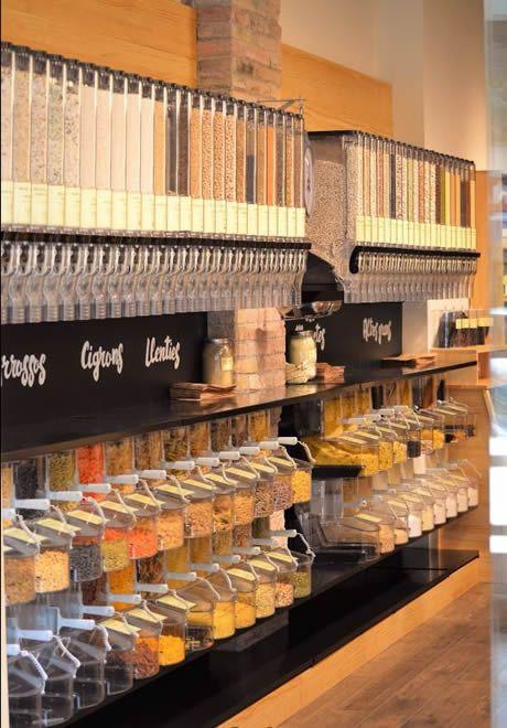 Dispensadores De Venta A Granel Gravity Bins Modelo 0001 Interiores De Tienda Mostradores Tiendas Interior De Panadería