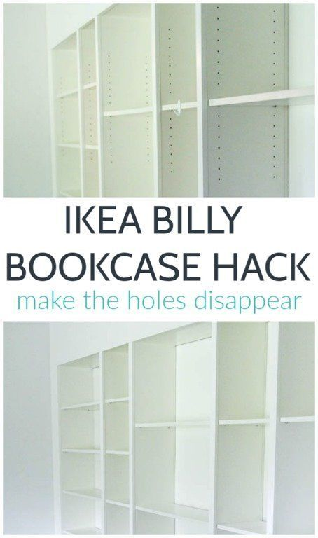 The Best Way To Fill Billy Bookcase Holes Lovely Etc Billy Bookcase Hack Ikea Closet Hack Ikea Bookcase