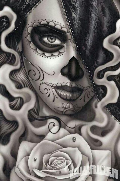 Day of the Dead, Dia del los Muertos - via Low Rider magazine