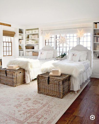 Cottage Country Bedroom Design Twin Girl Bedrooms Country Bedroom Twin Beds Guest Room