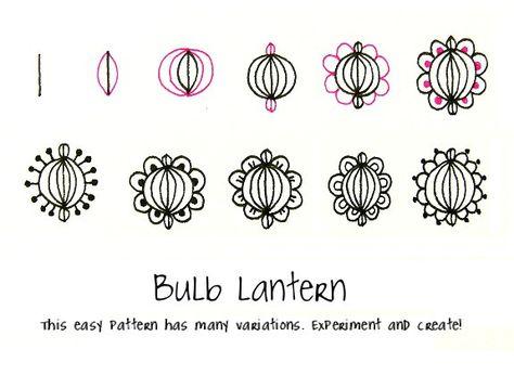 Zentangle: Bulb Lantern