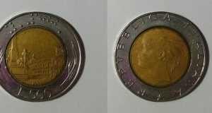 Valore Moneta 500 Lire D Argento Caravelle Dante E Bimetallica