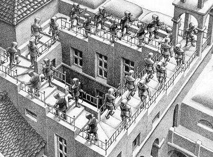 Escalera Arriba Y Escalera Abajo Penrose Escher Art Pictures