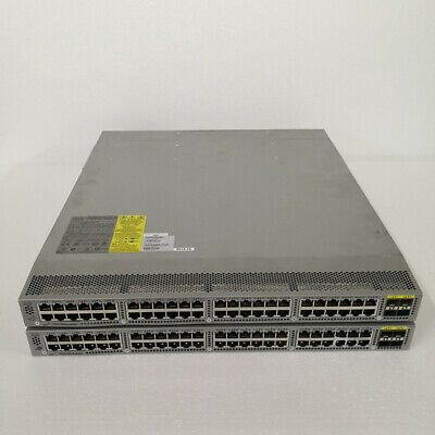 Details About Cisco N3k C3048tp 1ge 48 10 100 1000base T 4 10g Sfp L3 Switch W Dual Psu In 2020 Rj45