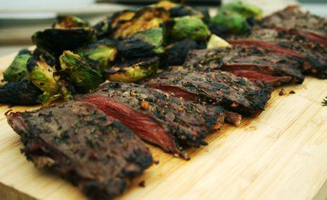 Crusted steak.