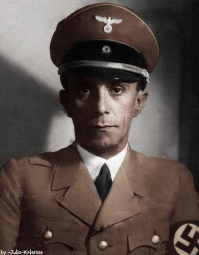 Joseph Goebbels (October 29, 1897 - May 1, 1945) - Paul Joseph Goebbels was a German politician and Reich Minister of Propaganda in Nazi Germany from 1933 to 1945.