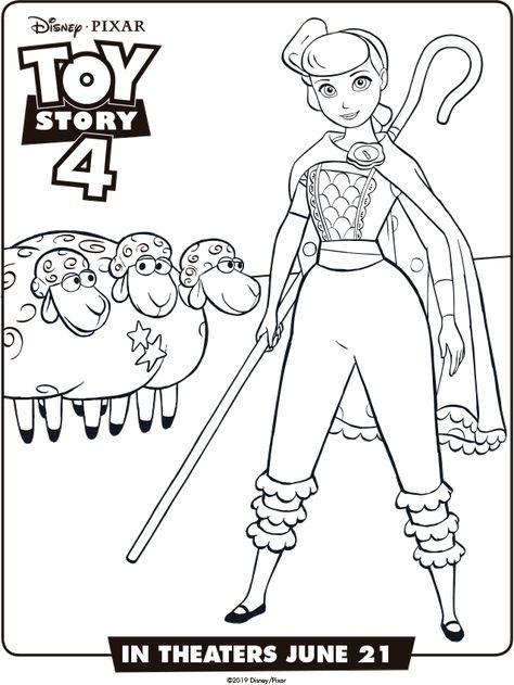 Toystory4 Imagenes Para Colorear Bo Beep Toy Story Para Colorear
