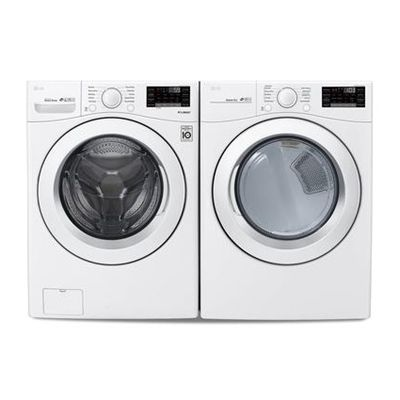 Lg Appliances Laundry Pair Front Load Stackable Dle3090w Wm3090cw Stackable Laundry