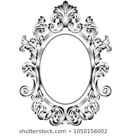 Oval Frame Oval Frame Vector Oval Border Oval Vintage Border Frame Engraving With Retro Ornament Pattern In Antique Baroque St Oval Frame Frame Mirror Frames