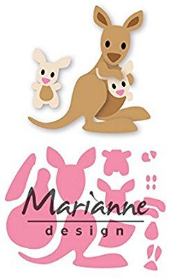 Metal Rosa Marianne Design Kangaroo and Baby collectables Plantillas de Corte elines Canguro y beb/é 150x210 para dise/ños intrincados y Detalles en Relieve en Manualidades en Papel