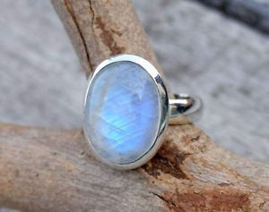 Moonstone Ring,Rainbow Moon Ring, Sterling Silver Ring, Rainbow Stone Ring, Stone = Rainbow Moonstone Silver = 925 Sterling Silver Stone Size = 12 X 16 mm This Ring i Can Make in Any Size Please Select Your Size From Size Menu This Ring Made By Me