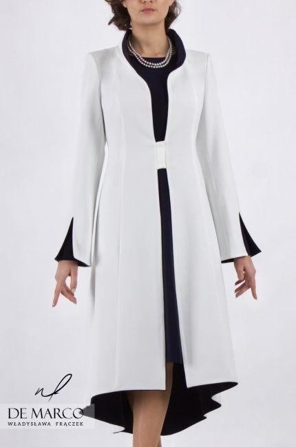 Plaszcz Do Sukienki Dla Matki Wesela Szycie Na Miare Nietypowe Duze Rozmiary White Suits Fashion Coat