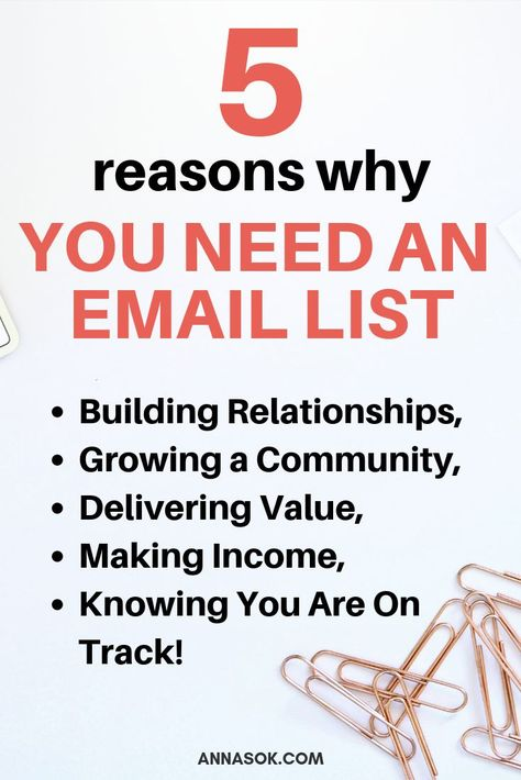 5 Reasons Why You Need to Start Collecting Emails on Your Blog Now
