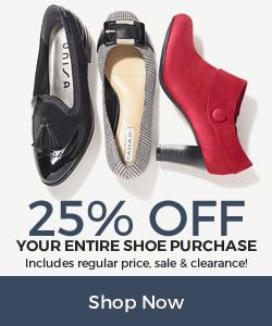 Shoes: 25% Off Entire Shoe Purchase