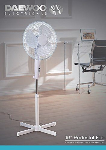 Netagon 16 Electric Oscillating Floor Standing Pedestal Air Cooling Fan White Air Conditioners Air Purifiers In 2019 Pedestal Fan Flooring Pedestal
