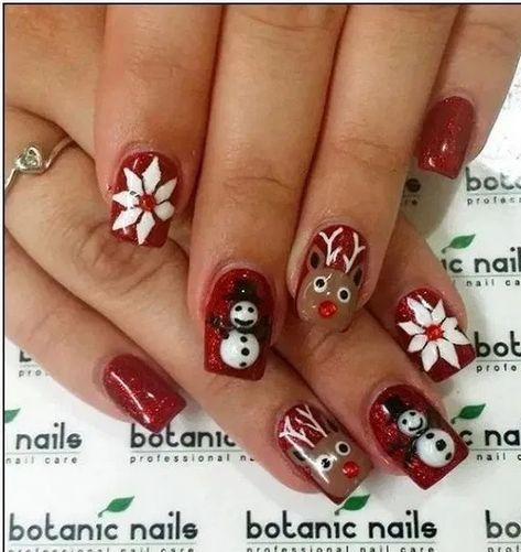 22 Nail Art For Christmas Ideas « homifi.com #nailsartdesigns #nailsartdaily #nailsarte #NailArt