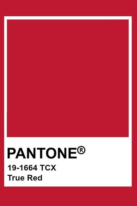 Pantone True Red  #pantone